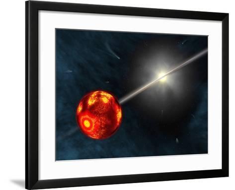 Artist's Concept of the Formation of the Solar System-Stocktrek Images-Framed Art Print