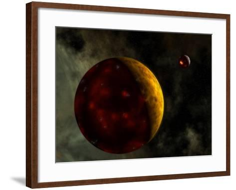 Artist's Concept of a Young, Turbulent Earth-Stocktrek Images-Framed Art Print