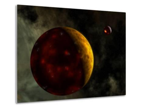 Artist's Concept of a Young, Turbulent Earth-Stocktrek Images-Metal Print