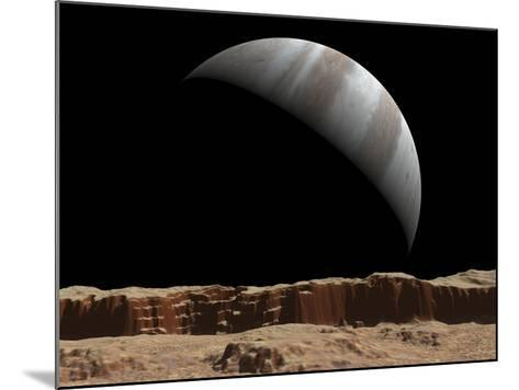 Artist's Concept of a View Towards Jupiter across the Surface of Io-Stocktrek Images-Mounted Photographic Print