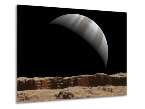 Artist's Concept of a View Towards Jupiter across the Surface of Io-Stocktrek Images-Metal Print