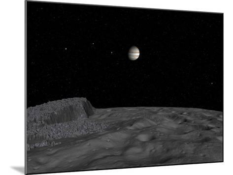 Artist's Concept of a View across the Surface of Themisto Towards Jupiter and its Moons-Stocktrek Images-Mounted Photographic Print