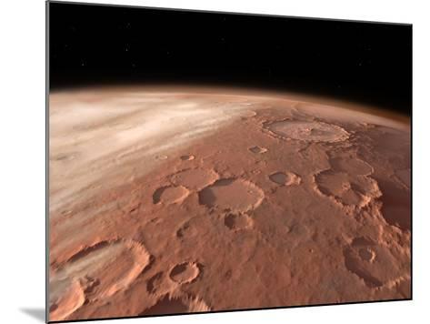 Heavily Cratered Highlands on the Surface of Mars-Stocktrek Images-Mounted Photographic Print