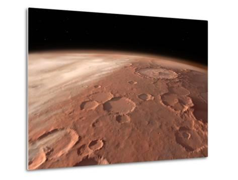 Heavily Cratered Highlands on the Surface of Mars-Stocktrek Images-Metal Print