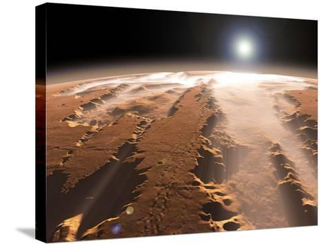 Artist's Concept of the Valles Marineris Canyons on Mars-Stocktrek Images-Stretched Canvas Print