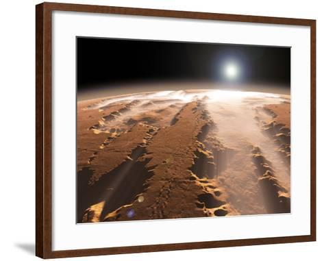 Artist's Concept of the Valles Marineris Canyons on Mars-Stocktrek Images-Framed Art Print