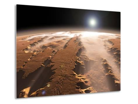 Artist's Concept of the Valles Marineris Canyons on Mars-Stocktrek Images-Metal Print