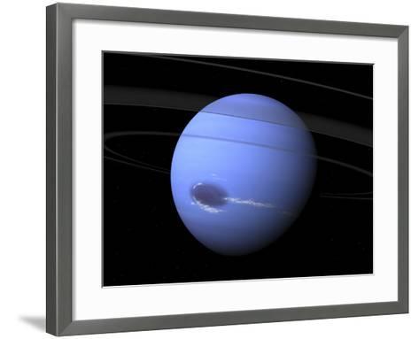 Artist's Concept of Neptune-Stocktrek Images-Framed Art Print