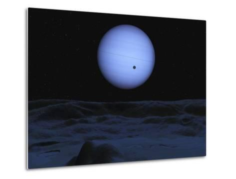 Artist' Concept of Neptune as Seen from its Largest Moon Triton-Stocktrek Images-Metal Print