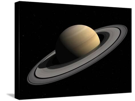 Artist's Concept of Saturn-Stocktrek Images-Stretched Canvas Print