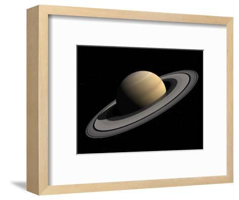 Artist's Concept of Saturn-Stocktrek Images-Framed Art Print