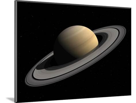 Artist's Concept of Saturn-Stocktrek Images-Mounted Photographic Print