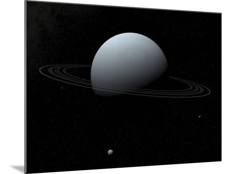 Artist's Concept of How Uranus and its Tiny Moon Puck-Stocktrek Images-Mounted Photographic Print