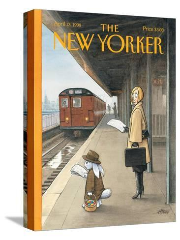 The New Yorker Cover - April 13, 1998-Harry Bliss-Stretched Canvas Print