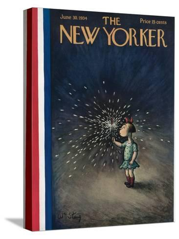 The New Yorker Cover - June 30, 1934-William Steig-Stretched Canvas Print