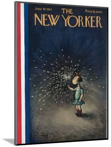 The New Yorker Cover - June 30, 1934-William Steig-Mounted Premium Giclee Print