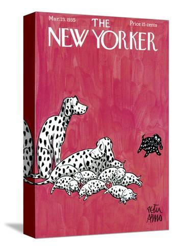 The New Yorker Cover - March 23, 1935-Peter Arno-Stretched Canvas Print