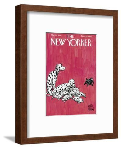 The New Yorker Cover - March 23, 1935-Peter Arno-Framed Art Print