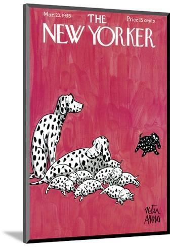The New Yorker Cover - March 23, 1935-Peter Arno-Mounted Premium Giclee Print