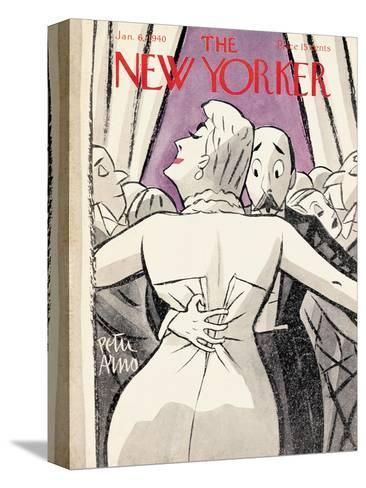 The New Yorker Cover - January 6, 1940-Peter Arno-Stretched Canvas Print