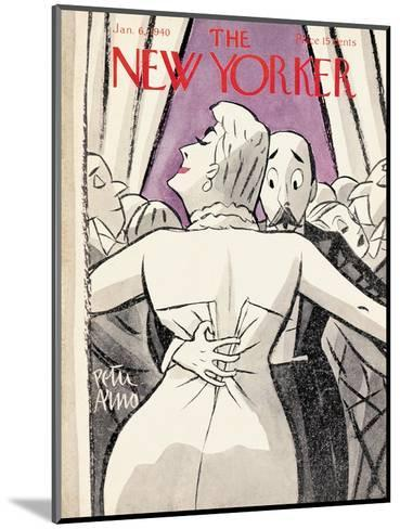 The New Yorker Cover - January 6, 1940-Peter Arno-Mounted Premium Giclee Print