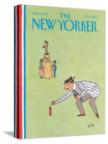 The New Yorker Cover - July 5, 1982-William Steig-Stretched Canvas Print