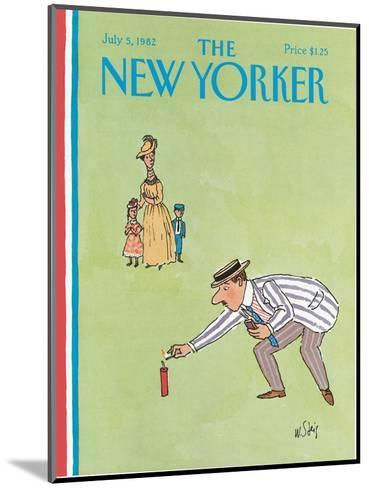 The New Yorker Cover - July 5, 1982-William Steig-Mounted Premium Giclee Print