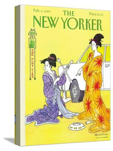 The New Yorker Cover - February 6, 1989-J.B. Handelsman-Stretched Canvas Print