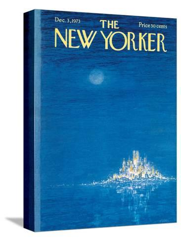 The New Yorker Cover - December 3, 1973-Robert Weber-Stretched Canvas Print