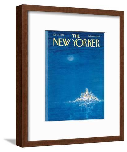 The New Yorker Cover - December 3, 1973-Robert Weber-Framed Art Print