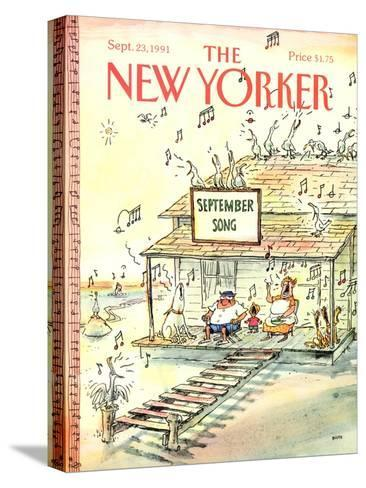 The New Yorker Cover - September 23, 1991-George Booth-Stretched Canvas Print