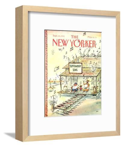 The New Yorker Cover - September 23, 1991-George Booth-Framed Art Print