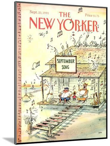The New Yorker Cover - September 23, 1991-George Booth-Mounted Premium Giclee Print