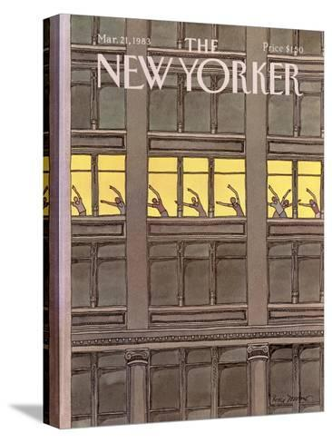 The New Yorker Cover - March 21, 1983-Roxie Munro-Stretched Canvas Print