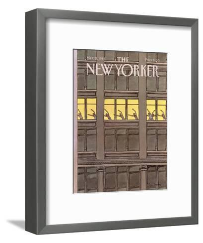 The New Yorker Cover - March 21, 1983-Roxie Munro-Framed Art Print
