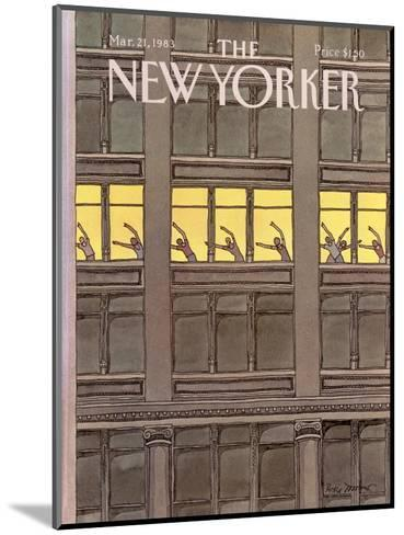The New Yorker Cover - March 21, 1983-Roxie Munro-Mounted Premium Giclee Print