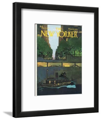 The New Yorker Cover - July 17, 1971-Arthur Getz-Framed Art Print