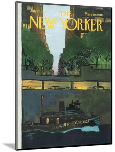 The New Yorker Cover - July 17, 1971-Arthur Getz-Mounted Premium Giclee Print