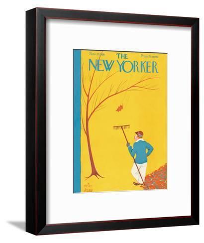 The New Yorker Cover - November 27, 1926-Peter Arno-Framed Art Print