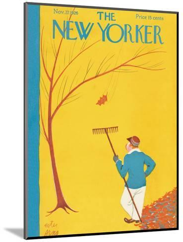 The New Yorker Cover - November 27, 1926-Peter Arno-Mounted Premium Giclee Print