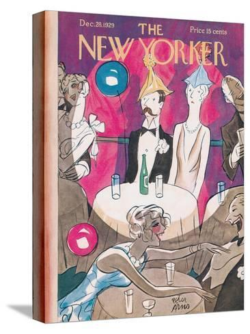 The New Yorker Cover - December 28, 1929-Peter Arno-Stretched Canvas Print