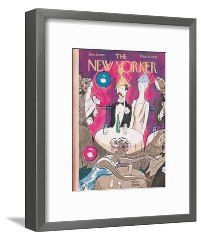The New Yorker Cover - December 28, 1929-Peter Arno-Framed Art Print