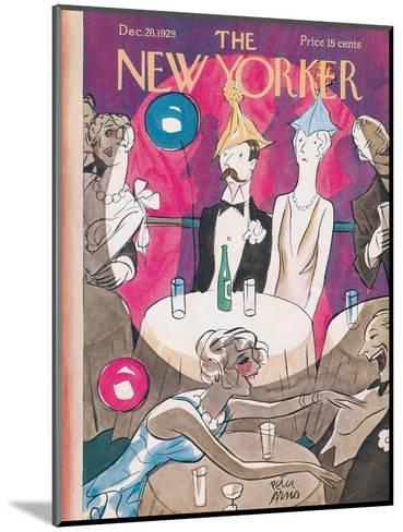 The New Yorker Cover - December 28, 1929-Peter Arno-Mounted Premium Giclee Print