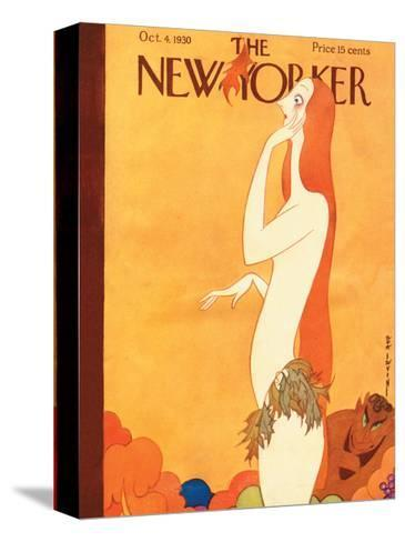 The New Yorker Cover - October 4, 1930-Rea Irvin-Stretched Canvas Print