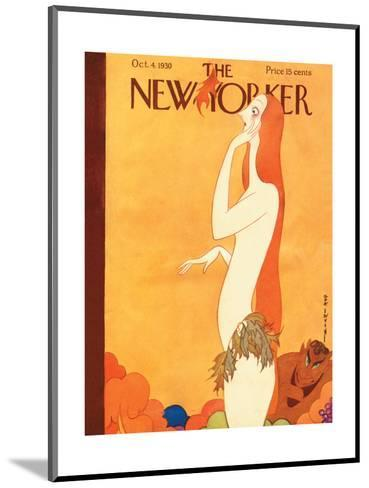 The New Yorker Cover - October 4, 1930-Rea Irvin-Mounted Premium Giclee Print