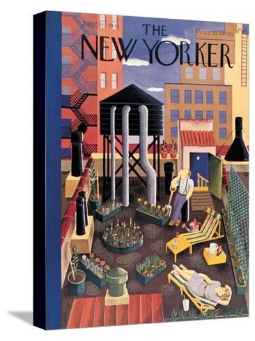 The New Yorker Cover - July 19, 1941-Ilonka Karasz-Stretched Canvas Print