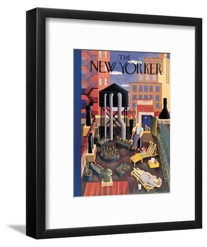 The New Yorker Cover - July 19, 1941-Ilonka Karasz-Framed Art Print