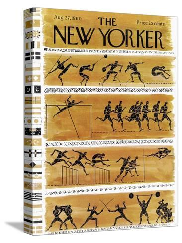 The New Yorker Cover - August 27, 1960-Anatol Kovarsky-Stretched Canvas Print