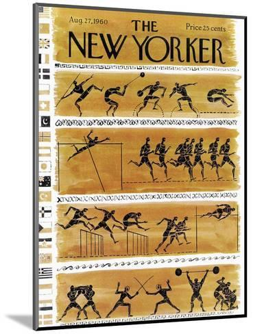 The New Yorker Cover - August 27, 1960-Anatol Kovarsky-Mounted Premium Giclee Print