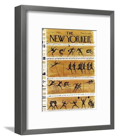 The New Yorker Cover - August 27, 1960-Anatol Kovarsky-Framed Art Print